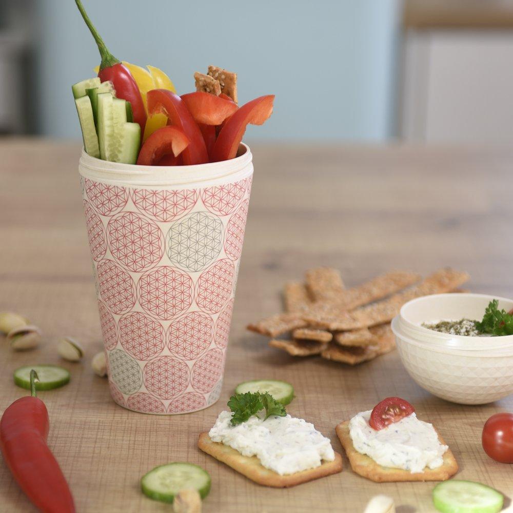 tasse de voyage incl recyclable biodégradable dans lenvironnement tasse de céréales respectueux de lenvironnement  convient pour les alime cuillère ebos qualité supérieure gobelet de muesli à emporter en bambou gobelet de yaourt bol de céréales