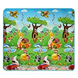 Cheap 2×1.8m Play-Mat Set for Baby Kids Children, Picnic Cushion Crawling Mat Two Sides Playing Activity Pad (Animals with Automotive and Sea)