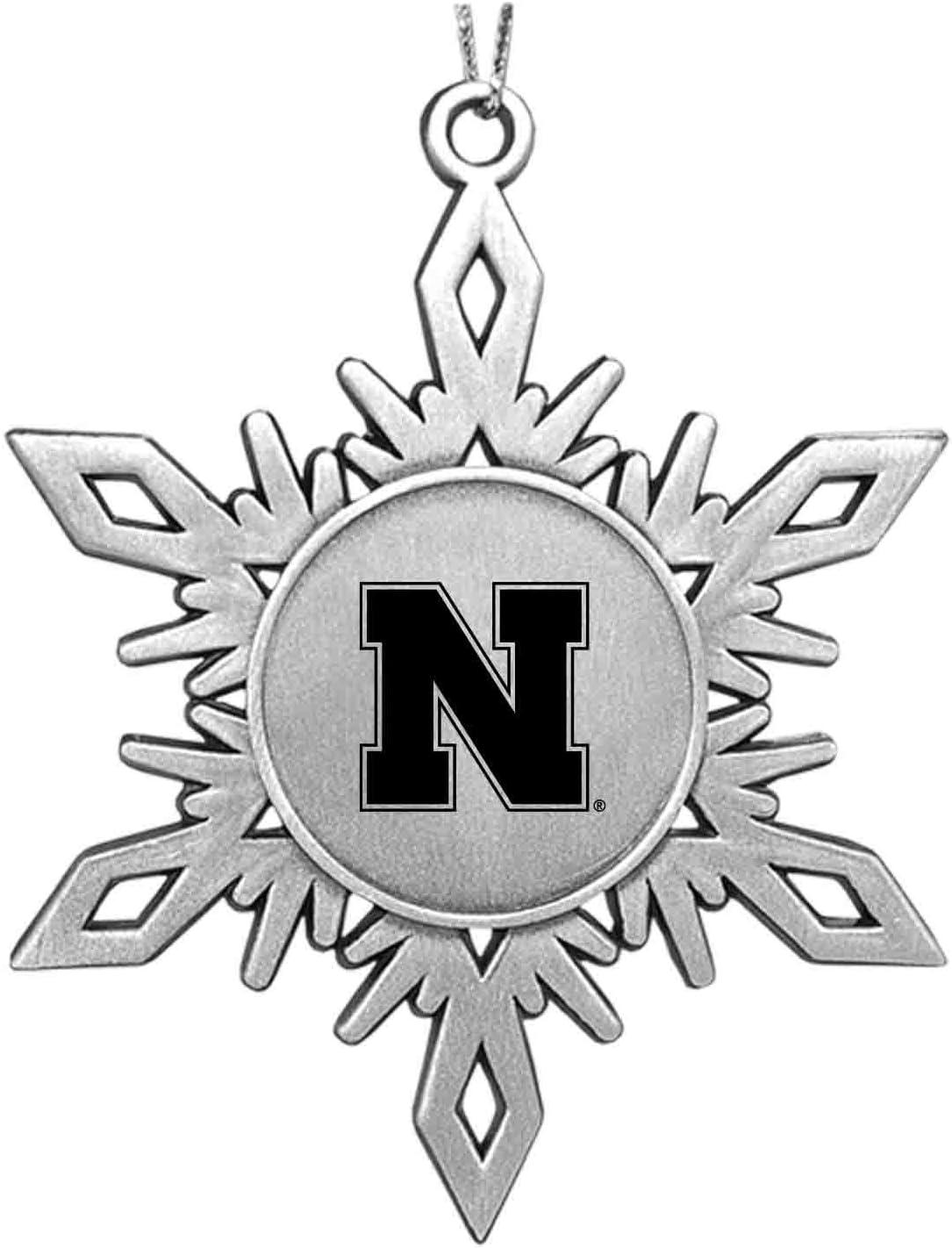 University of Nebraska|Snowflake Ornament|Pewter LXG Inc