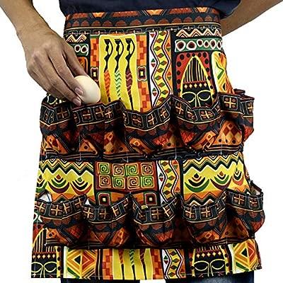 Forart - Delantal con 12 Bolsillos, diseño de Huevo: Amazon.es: Hogar
