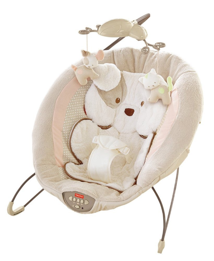 Fisher-Price My Little Snugapuppy Deluxe Bouncer Fisher Price Strollers X7313