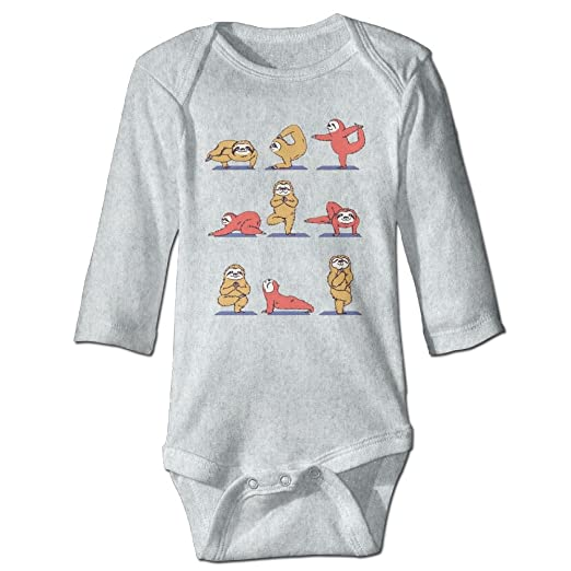 3b4d2c594223 Amazon.com  HYstyless Sloth Yoga Soft Cotton Long Sleeve Unisex Baby ...