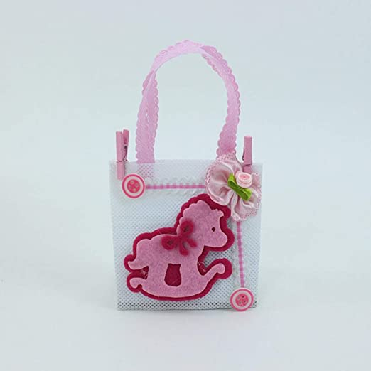 Amazon.com: CHITOP Cute Baby Shower New Organza Bag with ...