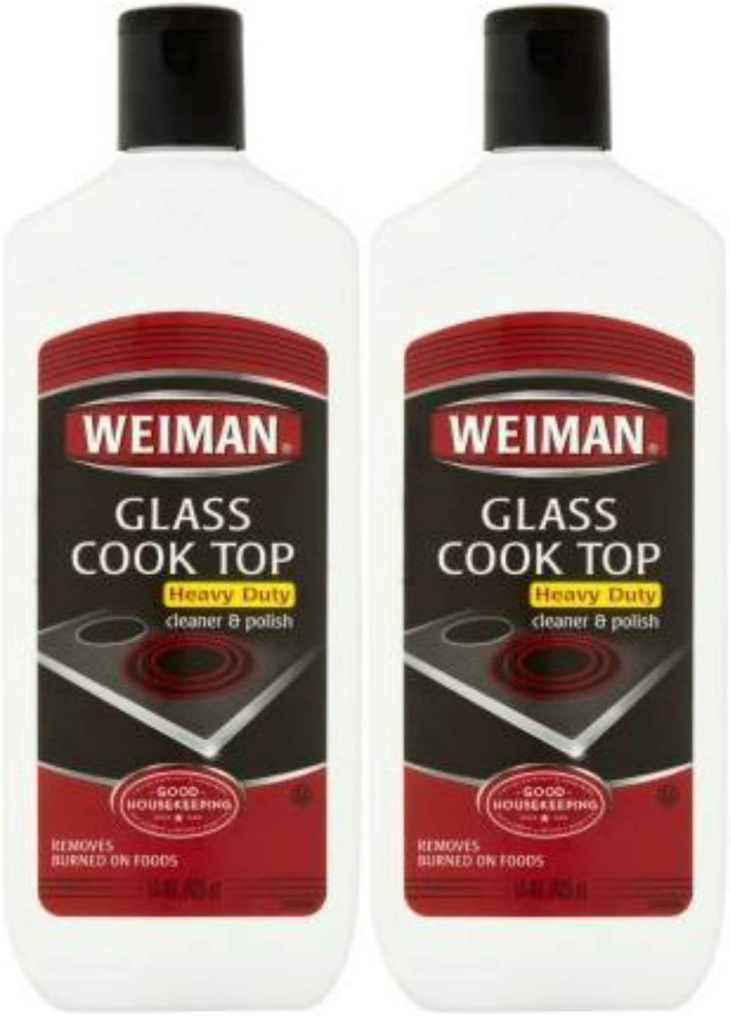 Weiman Glass Cook Top Heavy Duty Cleaner & Polish,Pack of 2 ( 15 oz Each )