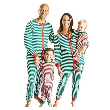 Meijunter Stripe Family Matching Christmas Jumpsuit - Papa Mama Kids Baby  Xmas Long Sleeve Pajamas Set Romper Clothes  Amazon.co.uk  Clothing 1dee069c5