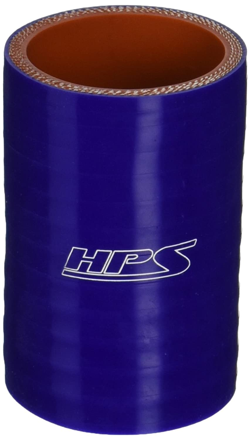 HPS HTSC-162-BLUE Silicone High Temperature 4-ply Reinforced Straight Coupler Hose, 100 PSI Maximum Pressure, 3' Length, 1-5/8' ID, Blue 3 Length 1-5/8 ID HPS Silicone Hoses