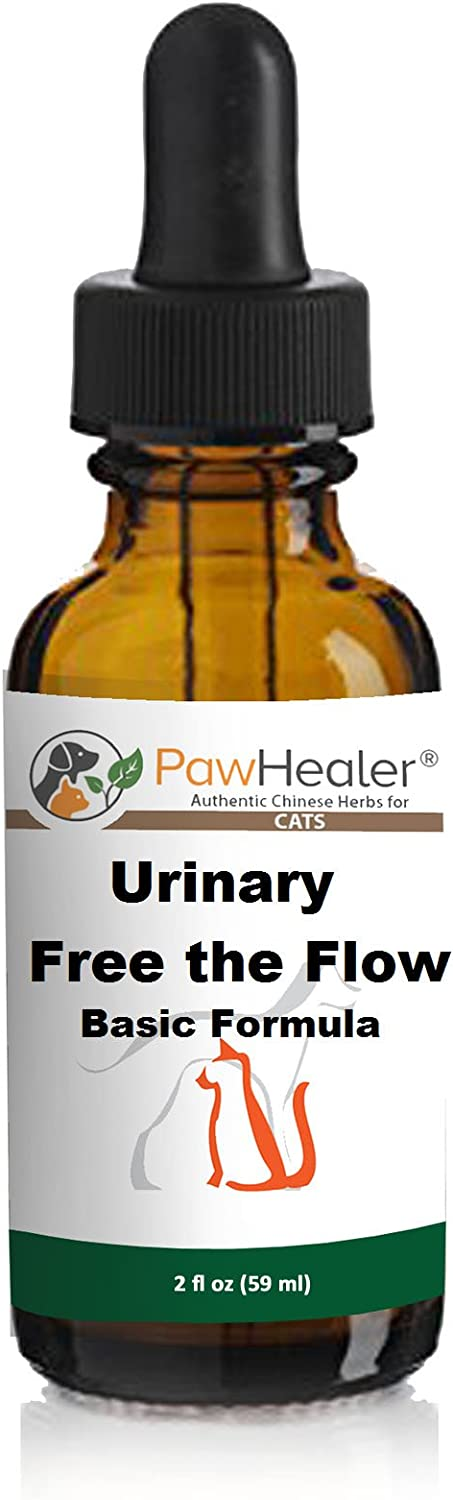 PawHealer Cat Bladder Remedy for Stones & Crystals: 2 fl oz (59 ml) - Urinary Free The Flow - Basic - Works Great for Over 10 Years in The Herbal Business. …