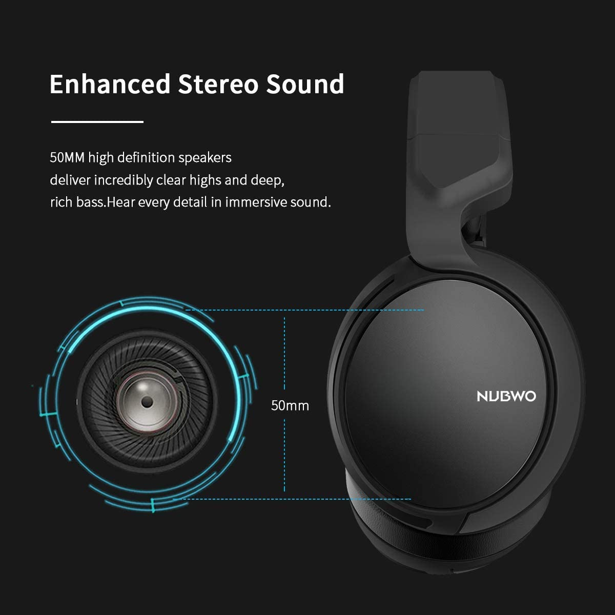 NUBWO N12 Surround Sound Stereo Gaming Headset with Mic for PlayStation 4, PS4, Xbox One Controller, Nintendo Switch Lite, PC, Laptop, Android & IOS ...
