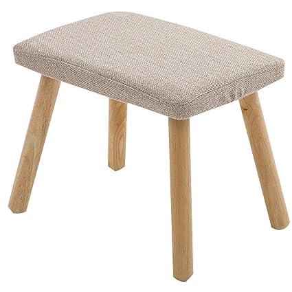 Amazing Amazon Com Lsxiao Sofa Stool Solid Wood Four Legged Stool Ibusinesslaw Wood Chair Design Ideas Ibusinesslaworg