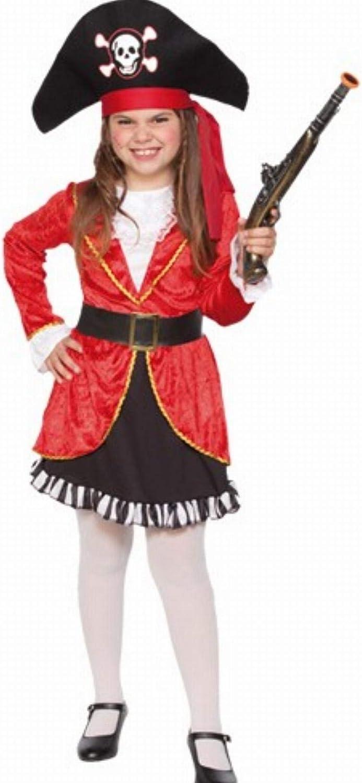 Fyasa 706356-t02 pirata disfraz de niña, rojo, mediano: Amazon.es ...