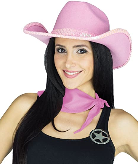 255571be3b1f2 Image Unavailable. Image not available for. Color  Fun World Adult s Womens Pink  Sequin Western ...