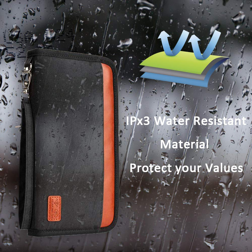 Travel Wallet Ticket Holder Family Passport Holder RFID Blocking Document Organizer Bag