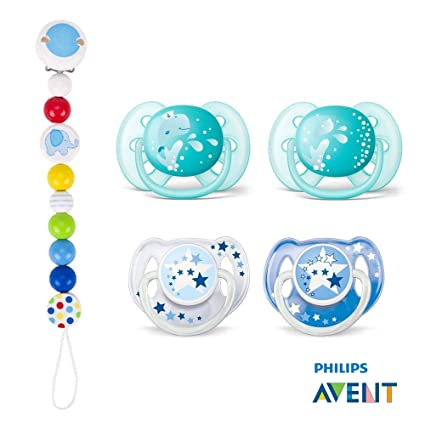 Philips AVENT Ultra Soft Chupete & Freeflow Night//6 - 18 Mo ...