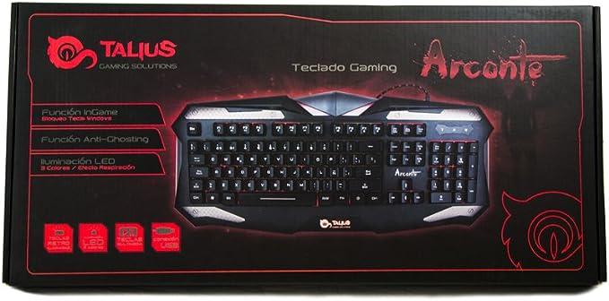 Talius Arconte - Teclado Gaming, retroiluminado, Modo inGame ...