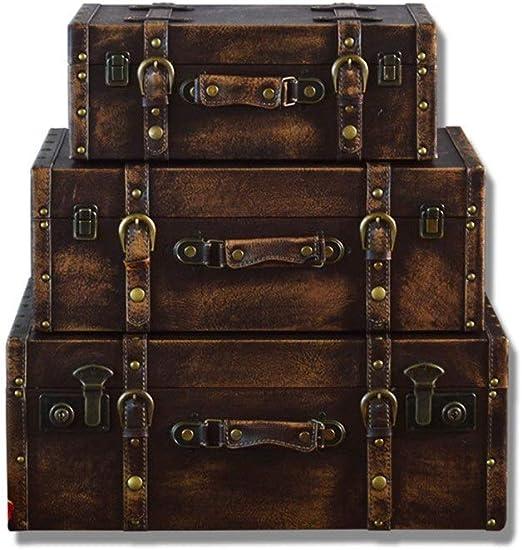 Amazon.com: Decorative Suitcase (Set of 9, Brown) Antique Vintage