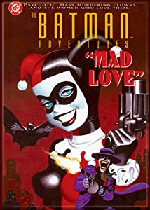 "Ata-Boy DC Comics Batman Adventures Harley Quinn 'Mad Love' 2.5"" x 3.5"" Magnet for Refrigerators and Lockers"