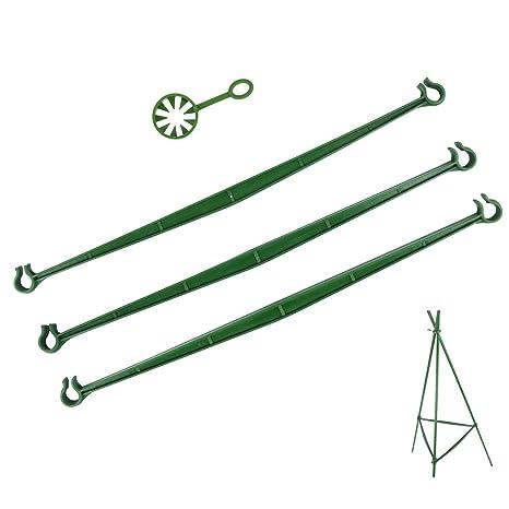 12 cuerdas conectores para sujetar estacas de macetas para tomates ...