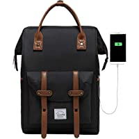 Laptop Backpack,VASCHY Vintage Water Resistant Anti-Theft Travel Backpack for Men and Women 15.6inch with USB Charging…