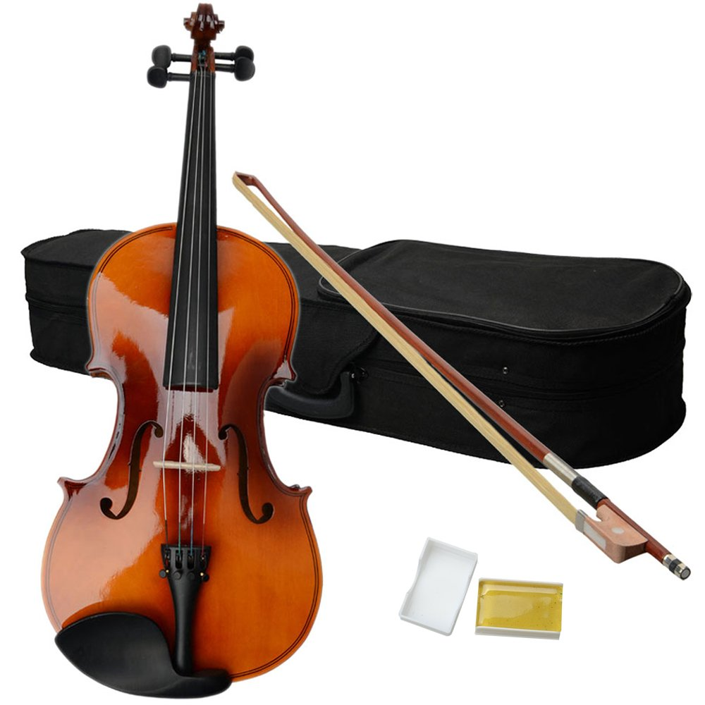 Acoustic Viola with Case, Bow, Rosin for Beginners Student Viola Starter Kit (16 Inch, Satin Antique)