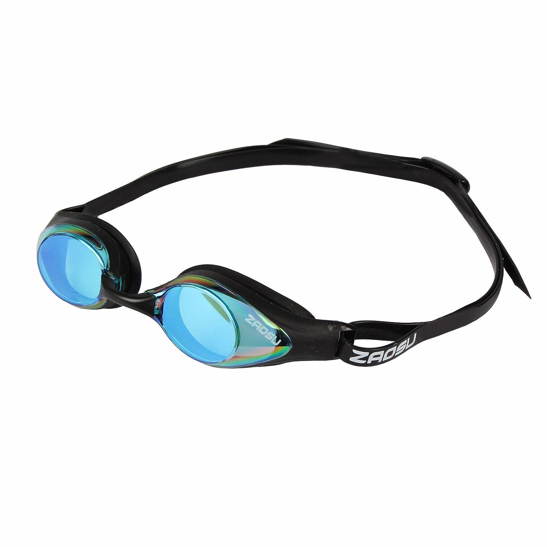 ZAOSU verspiegelte Wettkampf Schwimmbrille Z-Racing Mirror Farbe:Navy-blau