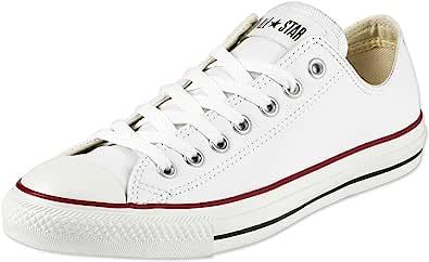 حذاء كونفرس تشاك تايلور اول ستار الجلدي المخيط بشعار امامي ورباط للجنسين
