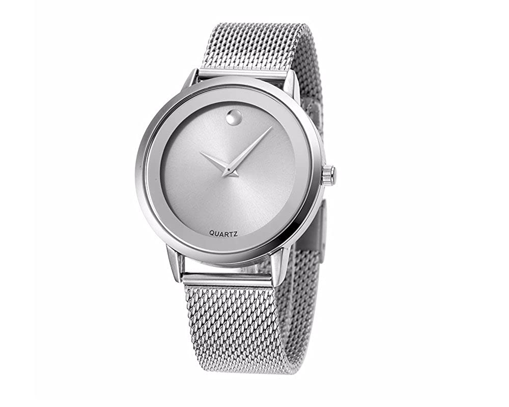 Amazon.com: Reloj Women Relojes De Mujer En Oferta Moda Fashion Relojes de Mujer Plateados Women Quartz Stainless Steel Band RE0072: Watches