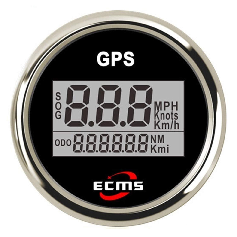 JUNJIAGAO-gauge Low Power Consumption 52mm 2 Inch Digital LCD GPS Speedometer for Motorcycle/Marine Boats/Vehicle Waterproof IP67, Waterproof, Lightning-Proof by JUNJIAGAO-gauge