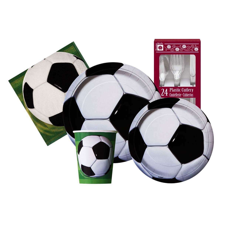 Amazon.com: Soccer Ball Themed Birthday Party Supply Kit Serves 8: Toys & Games