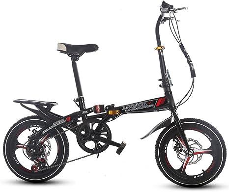 HIKING BK Bicicleta Plegable 16 Pulgadas Mujer Variadores de ...