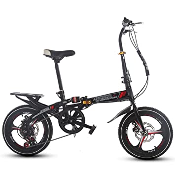 Bicicleta plegable 16 pulgadas Mujer Variadores de velocidad Amortiguador de choque Adulto Super light Bicicleta de