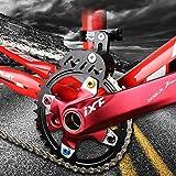Guía de cadena para bicicleta MTB con diseño hueco para piñón de disco único, esfera frontal suave
