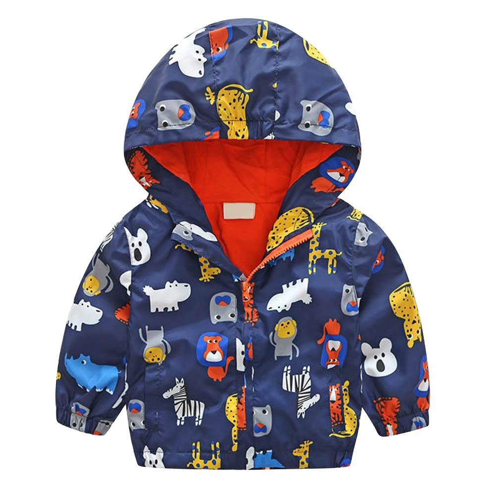 Minuya Kinder Baby Jungen M/ädchen Cartoon Fr/ühling Oberbekleidung M/äntel Langarm Jacke