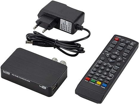 Receptor DVBT Aisumi-Mini K2 receptor de TV DVB-T2 DVB-T H.264 FHD Terrestre decodificador digital TV sintonizador Set-top Box para monitor soporte ...
