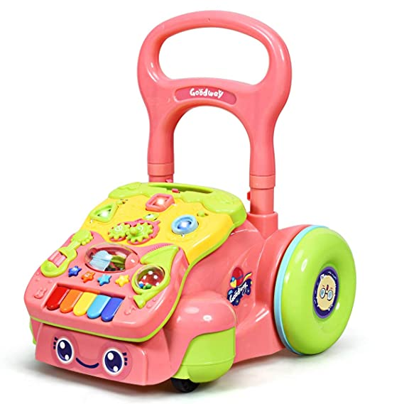 Baby Go Round Walker-Heights Adjustable Folding Baby Walker Dan/&Dre Baby Walkers Folding Toddler Walker with 8 Wheels