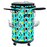 EQUATOR PC 50 EB 1.77 Cu.Ft Party Cooler in Blue with Top Door, 2 Wheels with lock, 2 wheels without lock, Electronic Temp. Control, 17.91 Inch Width, 21.85 Inch Depth, 31.5 Inch Height