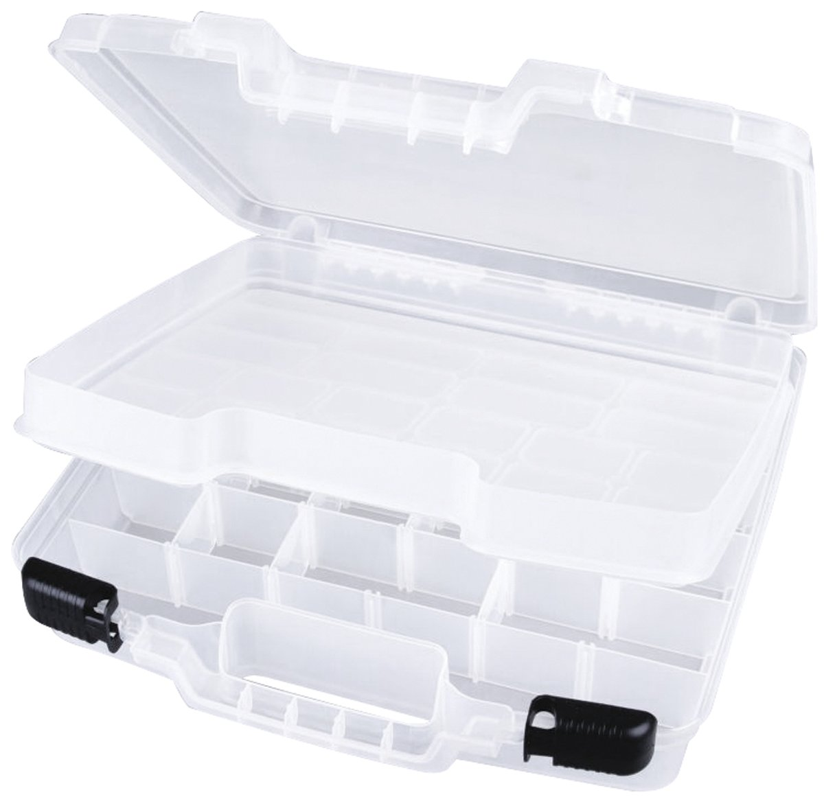 ArtBin Quick View Deep Base Carrying Case, Divided Base with Lift Out Tray- Clear, Great for Coloring Book Storage, 6962AB