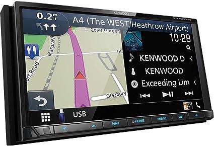 Kenwood Dnx7190dabs Navigationsgerät 17 6 Cm 6 95 Zoll Touchscreen Tft Fest Schwarz 2 5 Kg Navigation