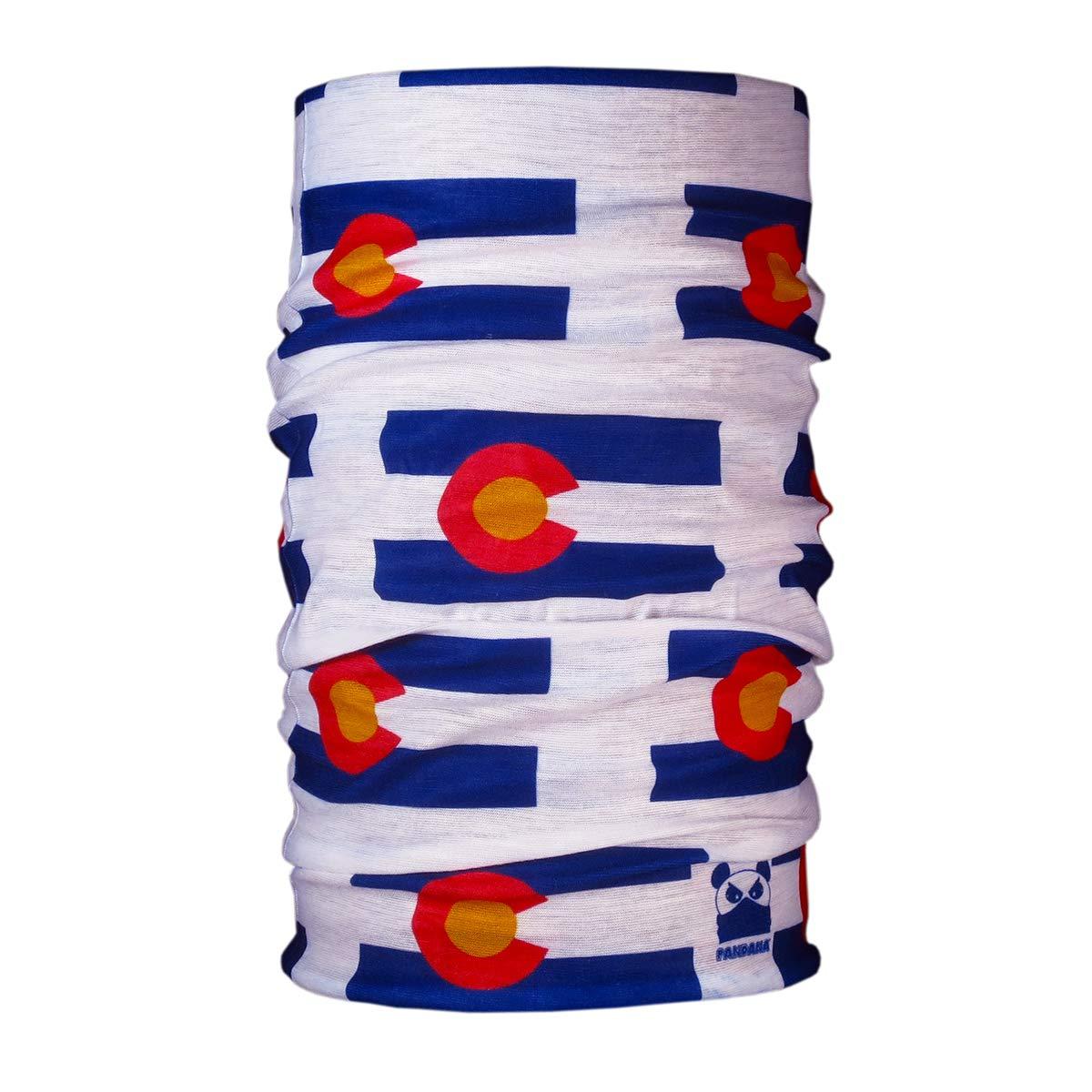 Colorado Flag Pandana Seamless Bandana Balaclava Double Layer SPF 50+ Sun Protection Neck Gaiter Facemask Headband PAN-015