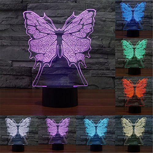 Led 3D Butterfly Night Lights - 6