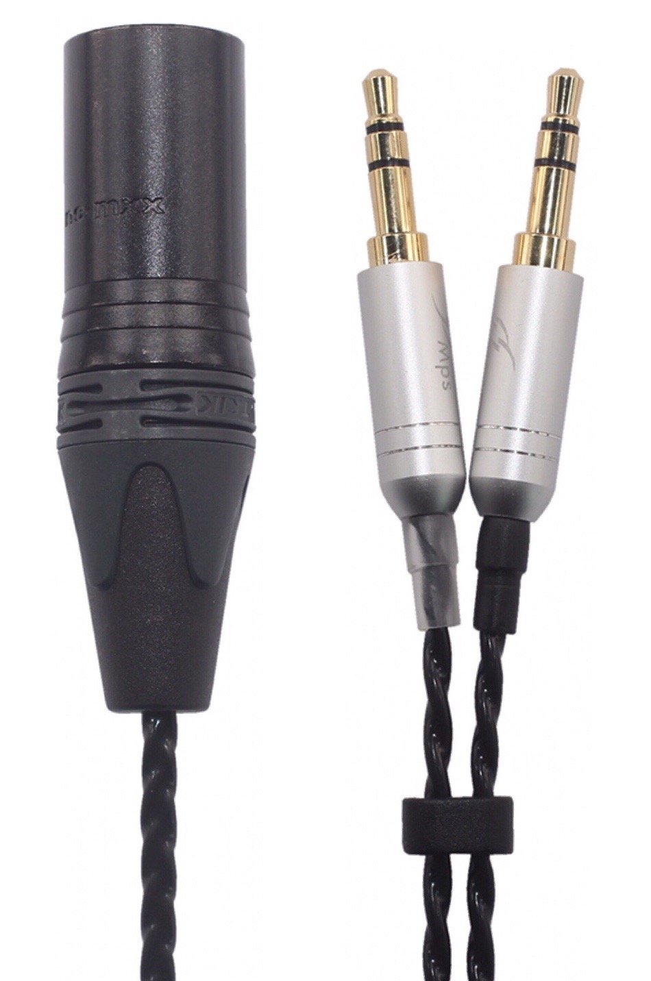MDS-4P Beyerdynamic T1 II, T5 Headphone Replacement Earphone Cable, Upgrade Audio Cable, 4-pin XLR Balanced Male to Dual 3.5mm Connector, MDS-4P (4.9ft (1.5M)) by KK Cable