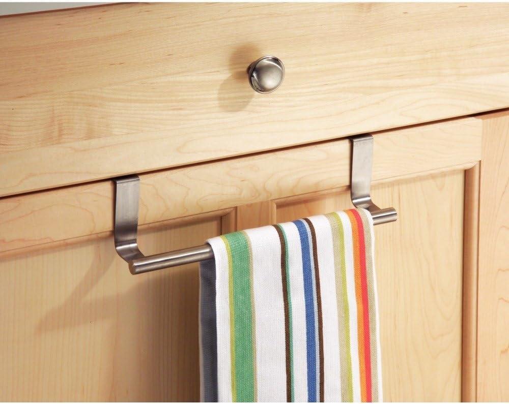 Dofover Kitchen Over Cabinet Towel Bar 9 Robe Hook Brushed Stainless Steel