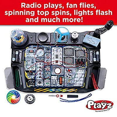 Playz Advanced Electronic Circuit Board Engineering Toy for Kids | 328+ Educational Experiments to Wire & Build Smart Connections Using Creative Knowledge of Electricity | Science Gift for Children: Toys & Games