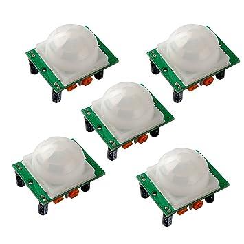 OSOYOO 5 x HC-SR501 Ajuste IR piroeléctrico infrarrojo PIR Humen Sensor de movimiento detector