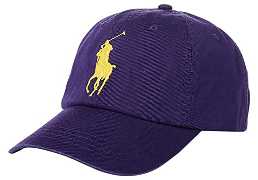 2001a092 Image Unavailable. Image not available for. Color: Polo Ralph Lauren Men's  Big Pony Chino Cotton Baseball Cap ...