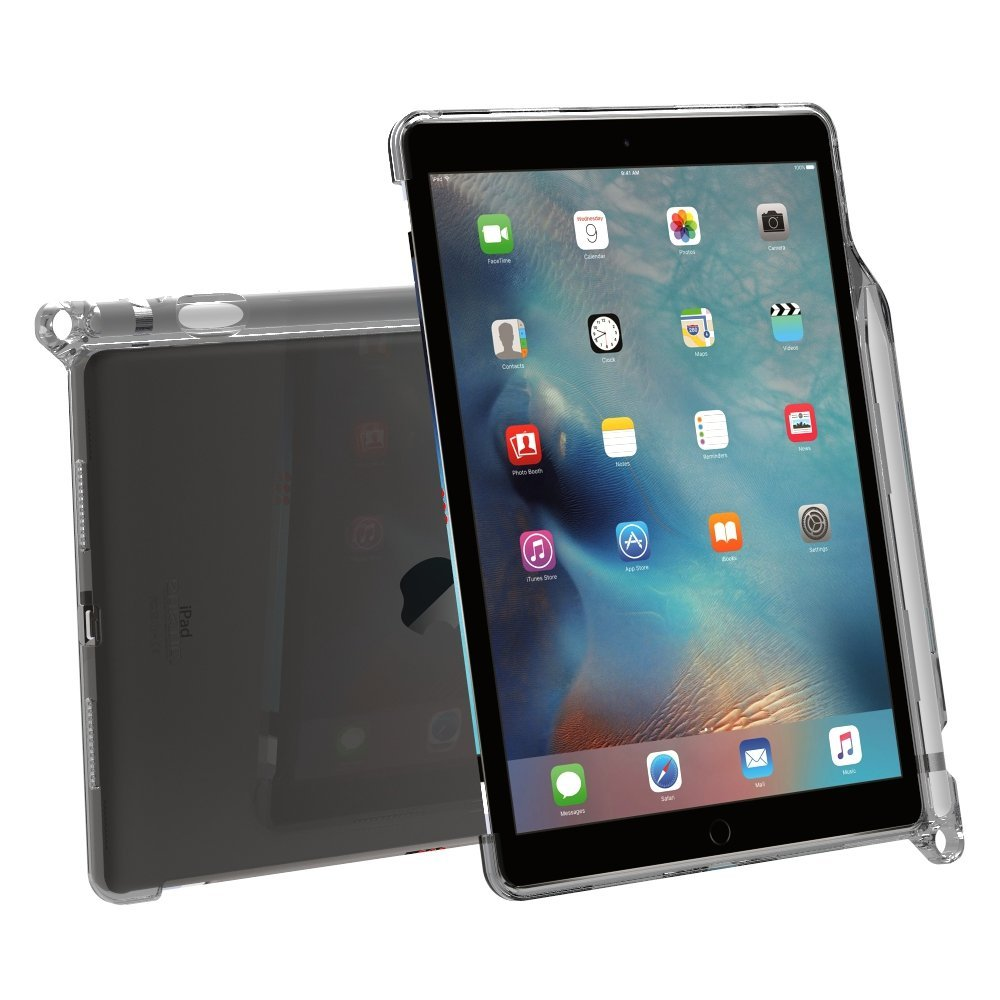 for ipad pro 9 7 poetic clarity keyboard compatible with pencil holder case gray ebay. Black Bedroom Furniture Sets. Home Design Ideas
