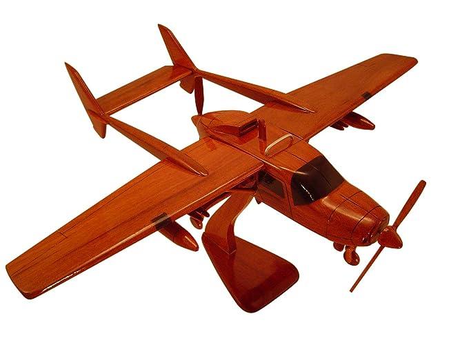 Amazon com: Cessna 337 Skymaster Mahogany Wood Desktop