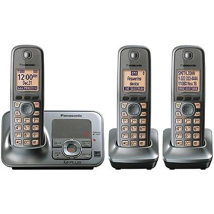 Panasonic KX TG4133M DECT 60 Cordless Phone With Answering System Metallic Gray 3