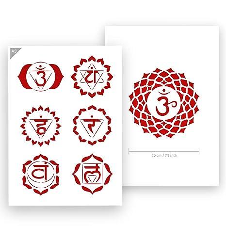Amazon.com: Plantilla de 6 chakras – Tarjeta o plástico – A3 ...