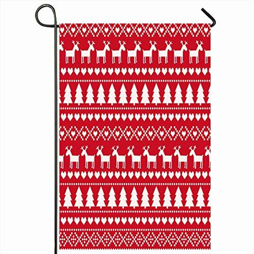 Nordic Reindeer Sweater (Ahawoso Outdoor Garden Flags 28