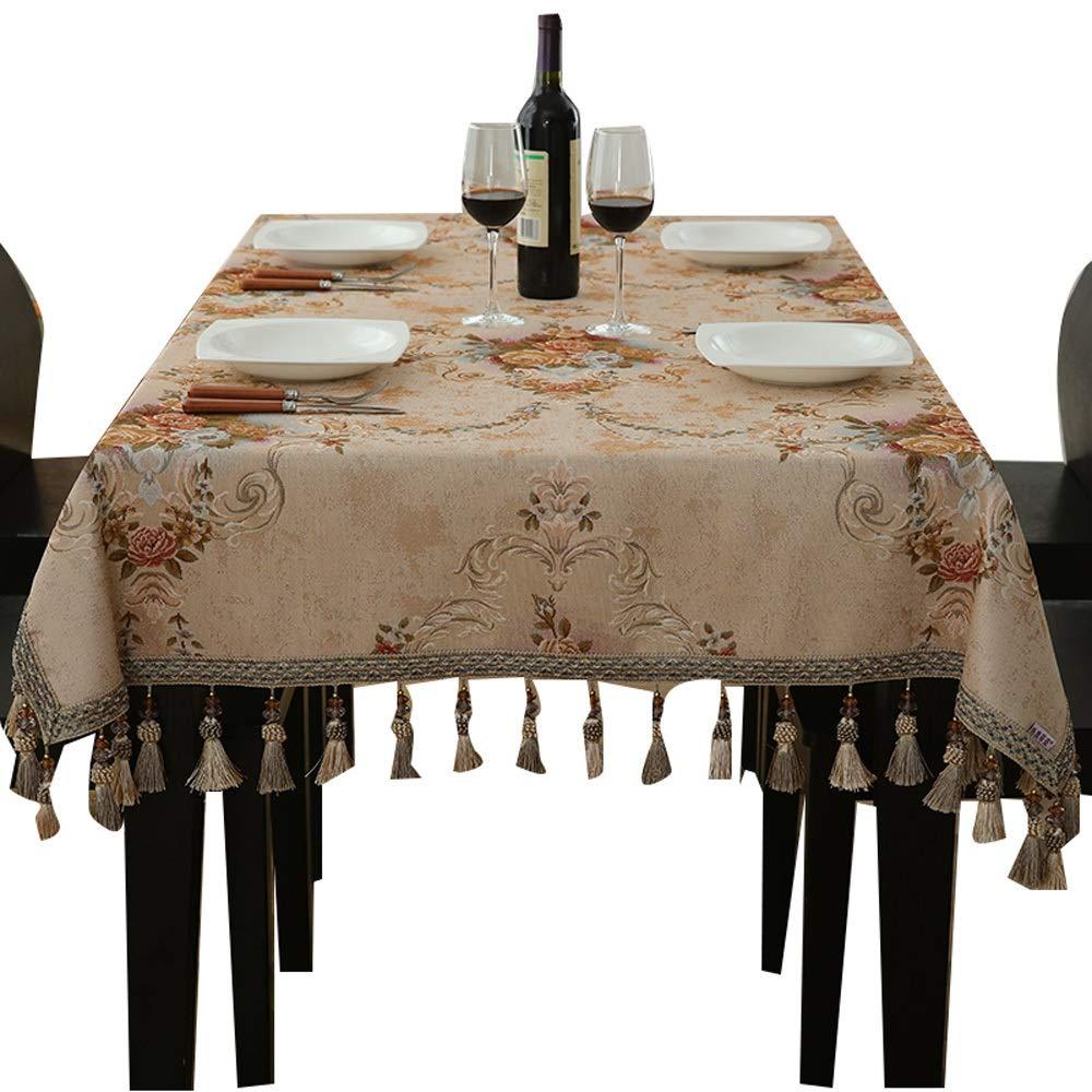 テーブルクロス - ヨーロッパのテーブルクロス長方形のリビングルームホームコーヒーテーブルテーブルレストランテーブルクロスレトロ印刷タッセルテーブルクロス (サイズ さいず : 140x200cm) 140x200cm  B07R9P9WS3
